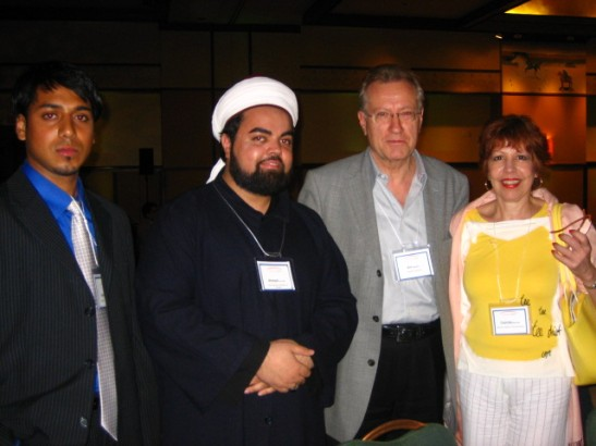 Sayyid Ahmed Amiruddin and Sayyid Ibrahim Quadri with Senator Art Eggleton and Mrs. Eggleton
