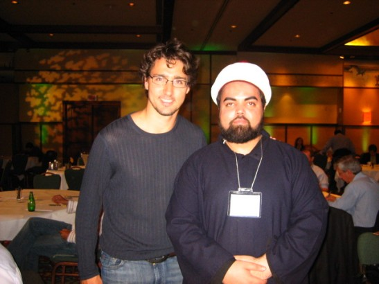Sayyid Ahmed Amiruddin with Hon. Justin Trudeau, MP