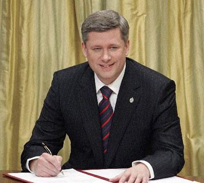Prime Minister Stephen Harper calls Sayyid Ahmed Amiruddin
