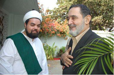 Visit by His Eminence Pir Salman al-Gailani, son of H.E. Pir Najmuddin al-Gailani, and Pir Syed Ibrahim Saif al-Din al-Gailani, Grandson of Iraq's first Prime Minister, Qutb al-Aqtab Naqib al-Ashraaf 'Abd al-Rahman al-Gailani.