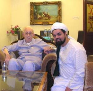 H.E. The Naqeeb of Baghdad with Sayyid Ahmed Amiruddin