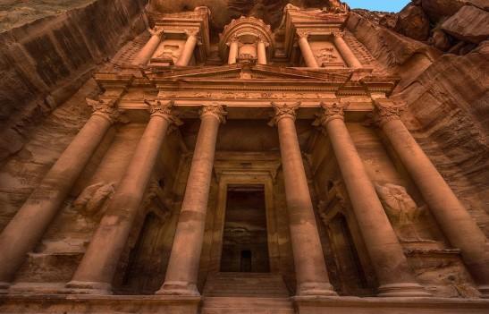 Al-Khazneh (the Treasury) in Petra Jordan