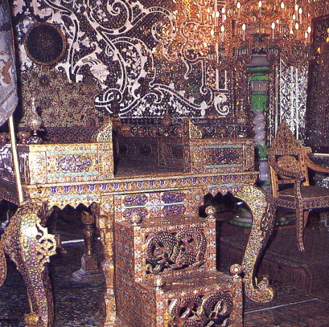 The peacock throne of the Great Mughal Emperor Shah Jehan