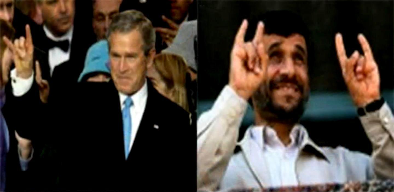 Ahmadinejads satanic hand gestures sayyid ahmed amiruddin the buycottarizona Images