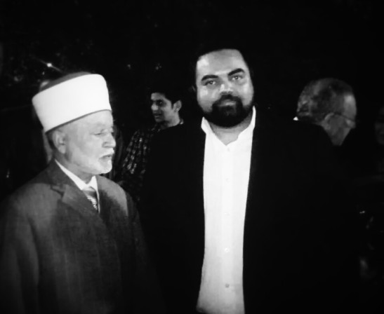With H.E. al-Sayyid Muhammad AM Hussein, Grand Mufti of Jerusalem, Grand Imam of Al Aqsa Mosque, Jerusalem