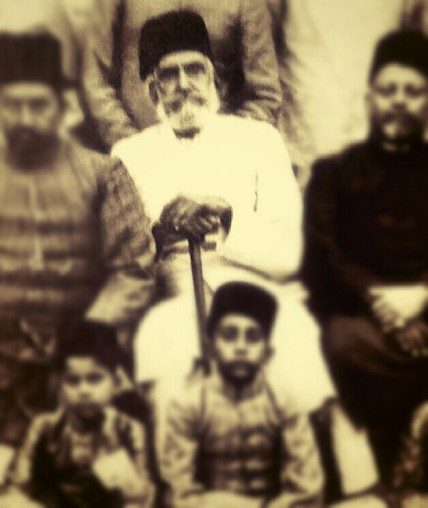 "The Master Islamic-occultist Nawab Sayyid Munir ud-Din Khan-Bahadur, Taluqdar, Secunder Yar Jang II, Asaf Jahi (centre) is the great grandfather of Sayyid Ahmed Amiruddin's grandfather. He is mentioned by name in the book ""Hyderabad State List of Leading Officials, Nobles and Personages"" published by Hyderabad Residency Government Press."