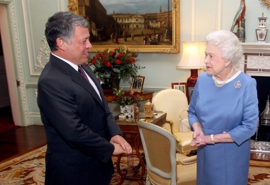 Her Majesty Queen Elizabeth II hosts His Majesty King Abdullah II Ibn Al-Hussein of the Hashemite Kingdom of Jordan