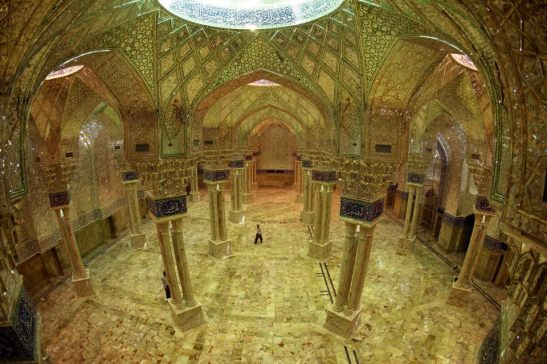 Halls inside the shrine of Shah Mardan in Najaf, Iraq.