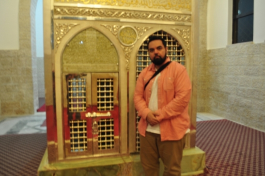 At the Tomb of Zayd ibn Haritha (rad), the adopted son of the Prophet Muhammad (S).