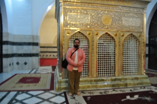 "At the Tomb of Ja'far ibn Abi Talib (elder brother of Imam 'Ali ibn Abi Talib), Jordan. Ja'far ibn Abi Talib was given the title ""Ja'far Tayyar"", meaning Ja'far of the Two Wings. Ja'far Tayyar was instrumental in converting the Emperor of Ethiopia to Islam before the Hijra."