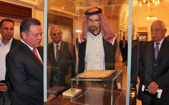 His Majesty King Abdullah with HRH Prince Ghazi, Chief Adviser to the King for Religious and Cultural Affairs and the King's Personal Envoy.