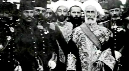 His Exalted Highness Sayyid Hussein bin Ali, GCB, the Sharif of Mecca, and Emir of Mecca (1908-1917), King of the Hejaz, and King of the Arabs, Caliph of the Prophet Muhammad (sallallahu alaihi wa sallam).