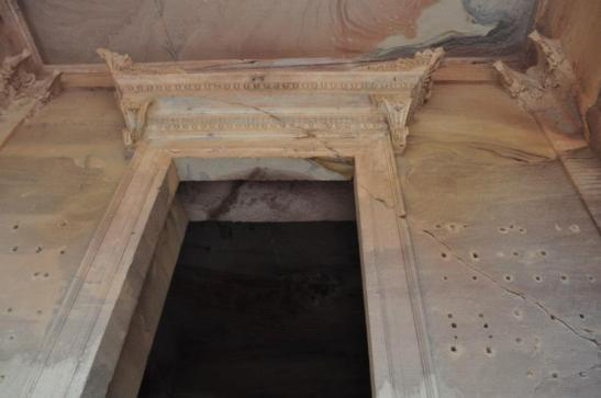 Up close in the  Khazinat Firoun, or Al Khazneh, where the Ark of the Covenant was kept. This site predates Rome