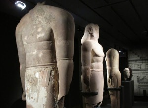 The Arab Lihyan kings - statues found in KSA.