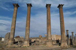 Nabatean Pillars, Bosra, Syria built by Arab kings