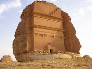 Nabatean buildings at Madain Saleh, KSA built by Arab kings.