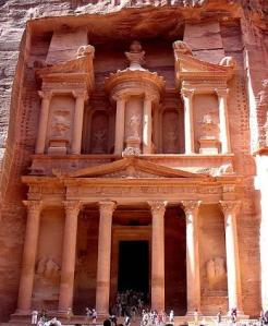 Petra, Jordan. Built by the Nabatean Arab kings.