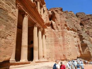 Nabatean pillars from Petra, Jordan.