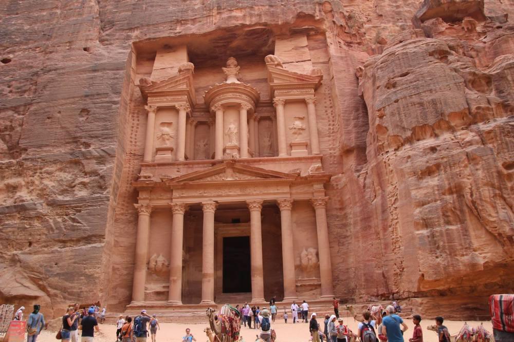 Khazinat Firoun, Petra - Pharaoh's Treasury known as Al Khazneh, Petra. Built by the Nabatean Arabs.