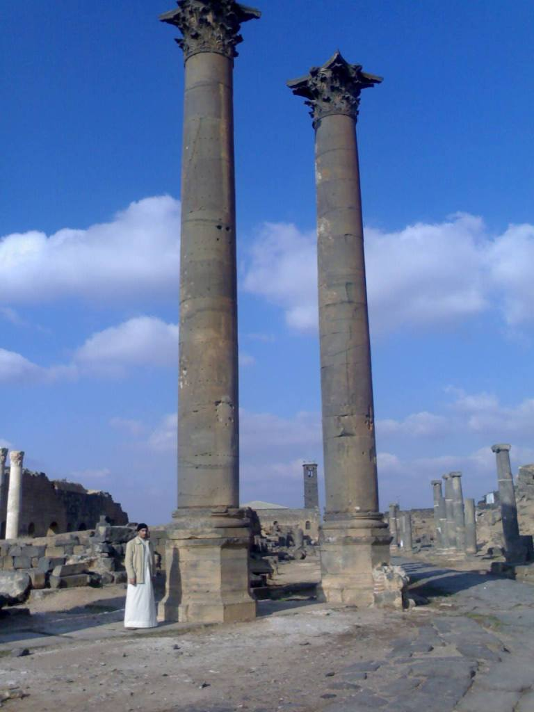 Nabatean Pillars of Bosra, Syria. Again, similarities to the Baalbek site are clear.